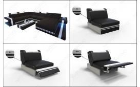 Designer Sofa IMPERIAL CORNER mit LED Beleuchtung von NATIVO™ Möbel Österreich