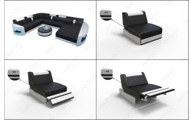 Designer Sofa ATLANTIS XXL mit LED Beleuchtung von NATIVO™ Möbel Österreich