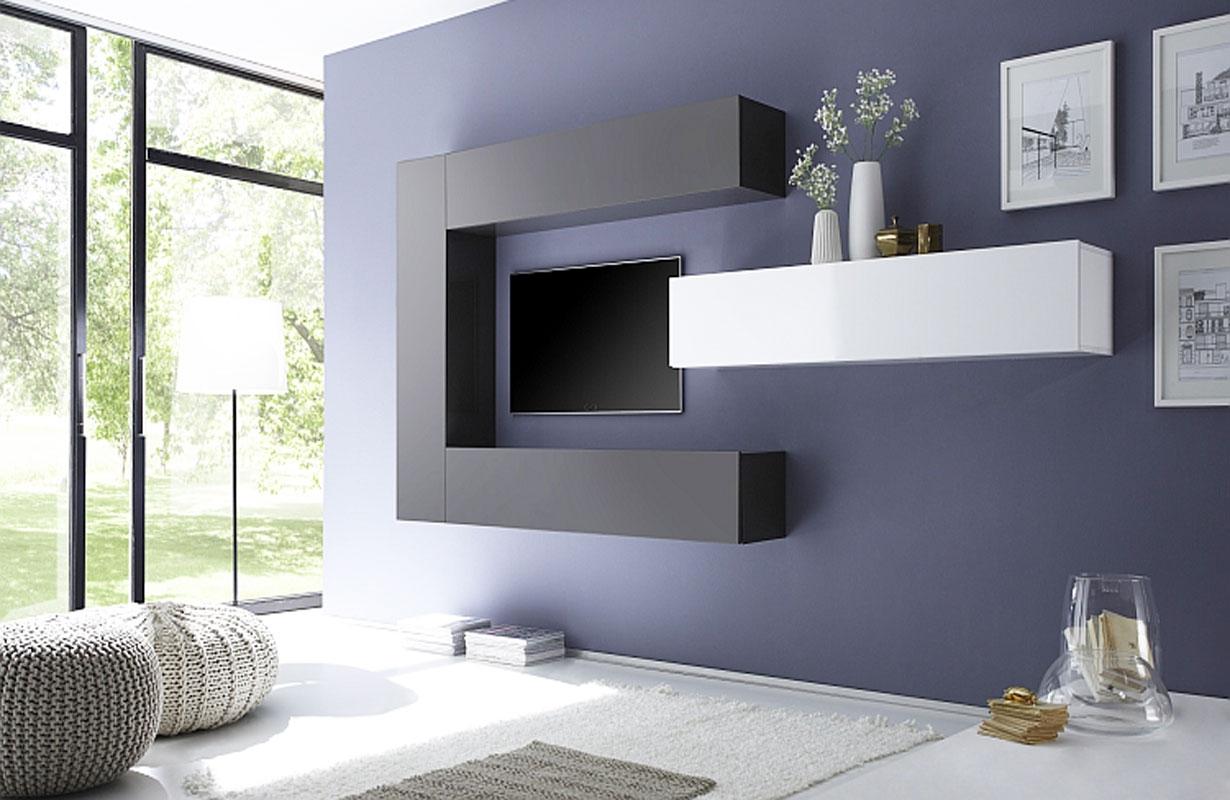 designer wohnwand padova - Stylische Wohnwand