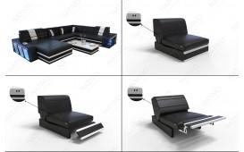 Designer Sofa CAREZZA 3+2+1 mit LED Beleuchtung von NATIVO™ Möbel Österreich
