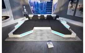 Designer Sofa NEMESIS XXL DUO mit LED Beleuchtung & USB Anschluss von NATIVO™ Möbel Österreich