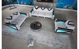 Designer Sofa FALCO 3+2+1 mit LED Beleuchtung & USB Anschluss von NATIVO™ Designer Möbel Österreich