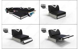 2 Sitzer Sofa FALCO mit LED Beleuchtung & USB Anschluss von NATIVO™ Designer Möbel Österreich