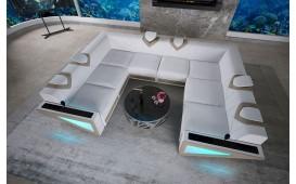 Designer Sofa FALCO CORNER U FORM mit LED Beleuchtung & USB Anschluss von NATIVO™ Möbel Österreich