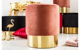 Designer Sitzhocker ROCCO DUSKY PINK GOLD 35 cm NATIVO™ Möbel Schweiz