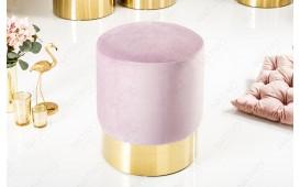 Designer Sitzhocker ROCCO LILA GOLD 35 cm NATIVO™ Möbel Österreich
