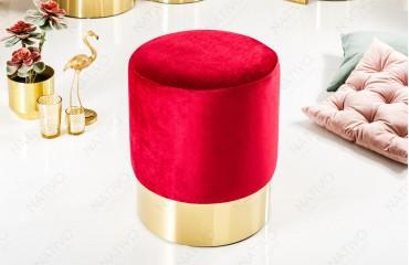 Designer Sitzhocker ROCCO RED GOLD 35 cm NATIVO™ Möbel Österreich