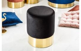 Designer Sitzhocker ROCCO BLACK GOLD 35 cm NATIVO™ Möbel Österreich