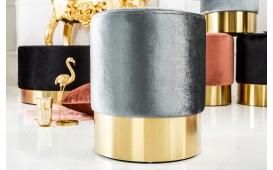 Designer Sitzhocker ROCCO SILVER GOLD 35 cm NATIVO™ Möbel Österreich