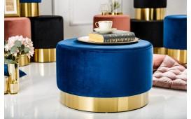 Designer Sitzhocker ROCCO BLUE GOLD 55 cm