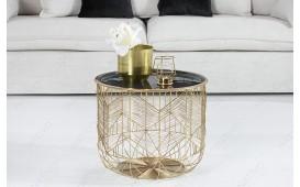 Designer Couchtisch CAGE GOLD 42 cm von NATIVO™ Designer Möbel Österreich