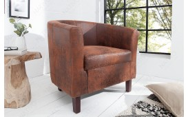 Designer Lounge Sessel ERNEST LIGHT BROWN