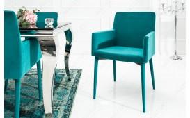 Designer Stuhl TORINO BLUE mit Armlehne
