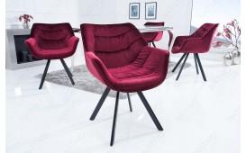 2 x Designer Stuhl SOLACE BORDEAUX