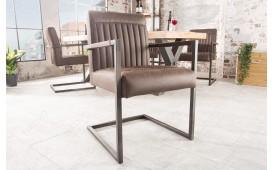 Designer Stuhl VILLA BROWN mit Armlehne von NATIVO™ Designer Möbel Österreich