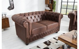 Designer Sofa CHESTERFIELD 2er VINTAGE