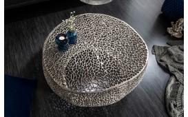 Designer Couchtisch POCAHONTAS SILVER 80 cm