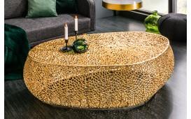 Designer Couchtisch POCAHONTAS GOLD 120 cm