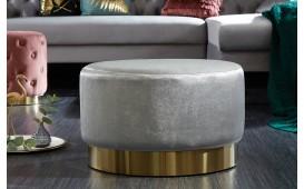 Designer Sitzhocker ROCCO SILVER GOLD 55cm NATIVO™ Möbel Österreich