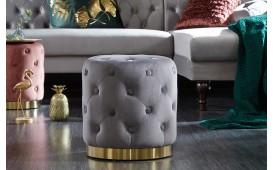 Designer Sitzhocker ROCCO CHESTER GREY GOLD
