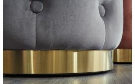 Designer Sitzhocker ROCCO CHESTER GREY GOLD NATIVO™ Möbel Österreich