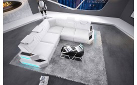 Designer Sofa NEMESIS CORNER mit LED Beleuchtung & USB Anschluss von NATIVO™ Designer Möbel Österreich