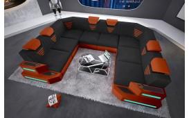 Designer Sofa NEMESIS CORNER U FORM mit LED Beleuchtung & USB Anschluss von NATIVO™ Designer Möbel Österreich