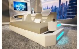 3 Sitzer Sofa NEMESIS mit LED Beleuchtung & USB Anschluss