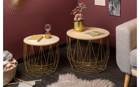 Designer Couchtisch CAGE SET 2 GOLD von NATIVO™ Designer Möbel Österreich