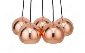 Designer Hängeleuchte PERLA 5 ROSEGOLD von NATIVO™ Designer Möbel Österreich