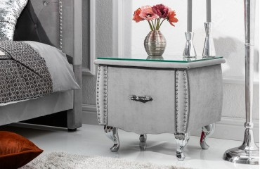 Designer Beistelltisch FLOURISH GREY 45 cm NATIVO™ Möbel Österreich