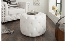Designer Sitzhocker CHESTERFIELD WHITE 60 cm von NATIVO™ Designer Möbel Österreich