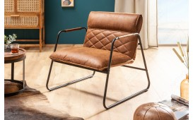 Designer Lounge Sessel COLT LIGHT BROWN