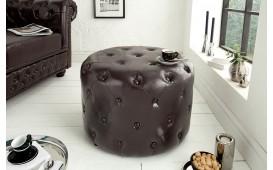 Designer Sitzhocker CHESTERFIELD DARK CAFFEE 60 cm von NATIVO™ Designer Möbel Österreich