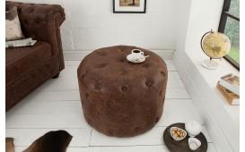 Designer Sitzhocker CHESTERFIELD BROWN 60 cm