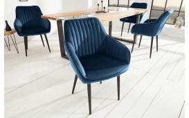 2 x Designer Stuhl PIEMONT DARK BLUE