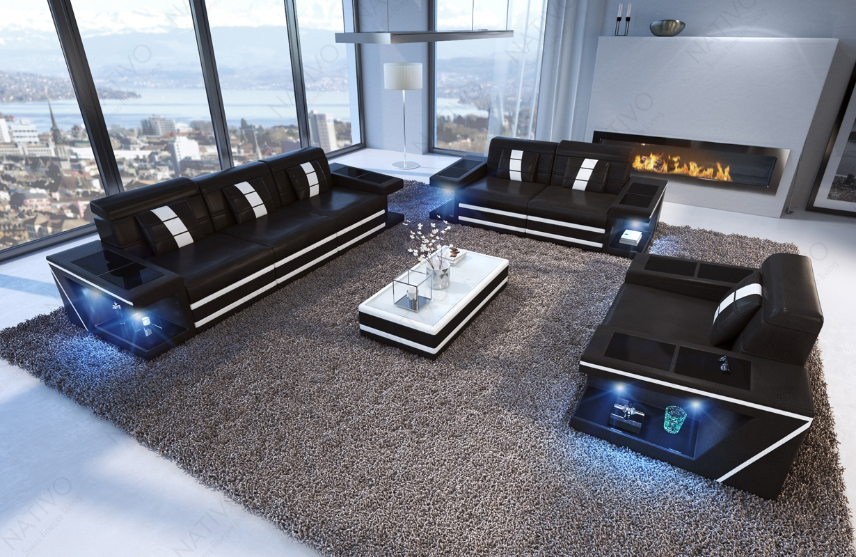 ledersofa carezza 3 2 1 bei nativo m bel oesterreich. Black Bedroom Furniture Sets. Home Design Ideas