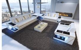 Designer Sofa CAREZZA 3+2+1 mit LED Beleuchtung