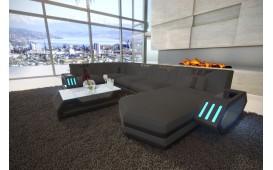 Designer Sofa CLERMONT XL mit LED Beleuchtung (ASTORIA 20 / ASTORIA 27) ab lager