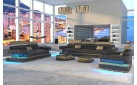Designer Sofa EXODUS 3+2+1 mit LED Beleuchtung & USB Anschluss