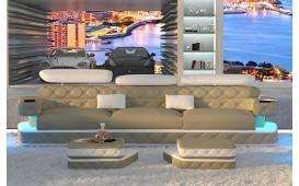 Designer Sofa EXODUS 3 mit LED Beleuchtung & USB Anschluss