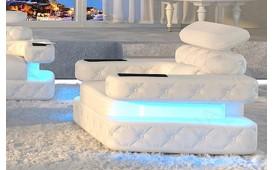 Designer Sofa EXODUS 1- Sitzer mit LED Beleuchtung & USB Anschluss