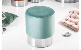 Designer Sitzhocker ROCCO MINT SILVER 35 cm von NATIVO™ Designer Möbel Österreich