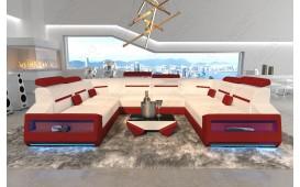 Designer Sofa AVATAR CORNER U FORM mit LED Beleuchtung & USB Anschluss