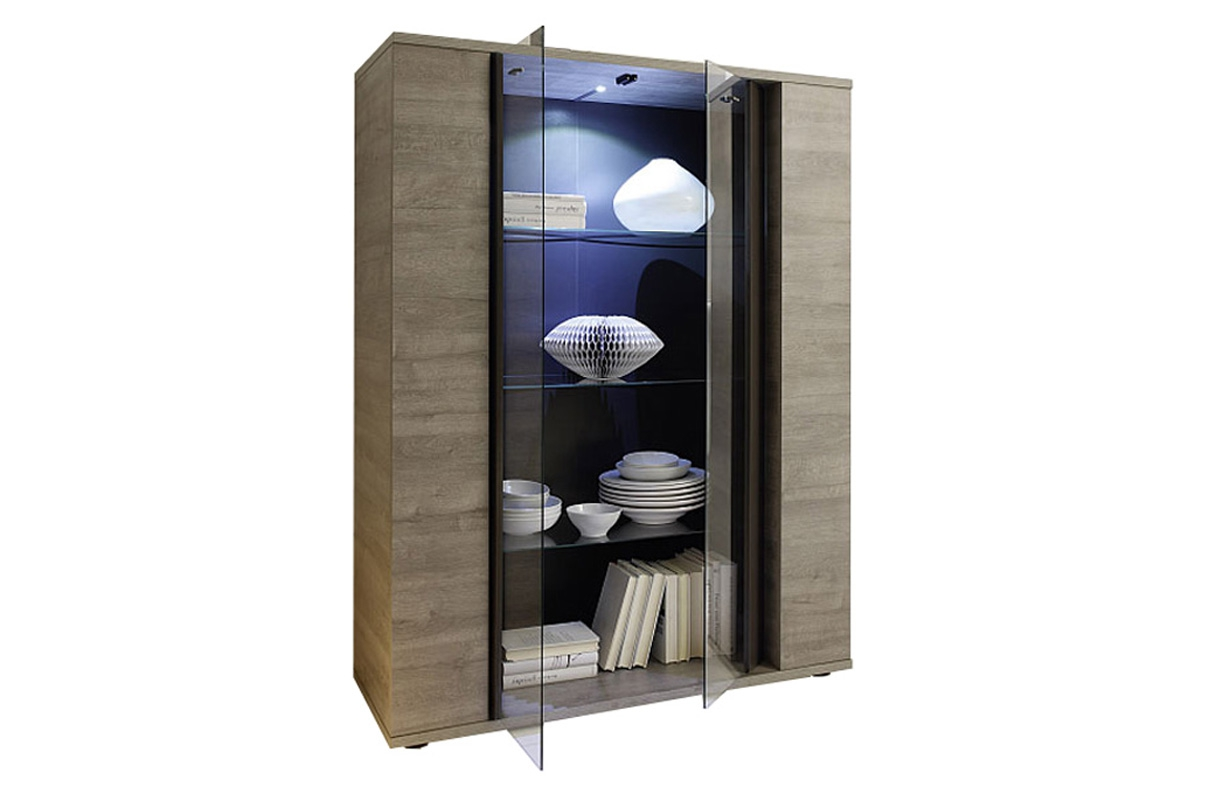 designer vitrine donna v 2 mit led beleuchtung nativo wien moebel. Black Bedroom Furniture Sets. Home Design Ideas
