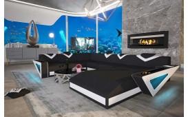 Designer Sofa FALCO XXL mit LED Beleuchtung & USB Anschluss