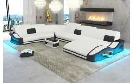 Designer Sofa DIABLO XXL mit LED Beleuchtung & USB Anschluss