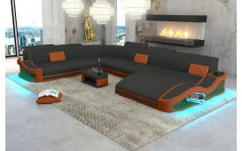 Designer Sofa DIABLO XXL mit LED Beleuchtung & USB Anschluss von NATIVO™ Designer Möbel Österreich