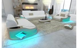 Designer Sofa DIABLO 3+2+1 mit LED Beleuchtung & USB Anschluss