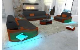 Designer Sofa DIABLO 3+2+1 mit LED Beleuchtung & USB Anschluss von NATIVO™ Designer Möbel Österreich